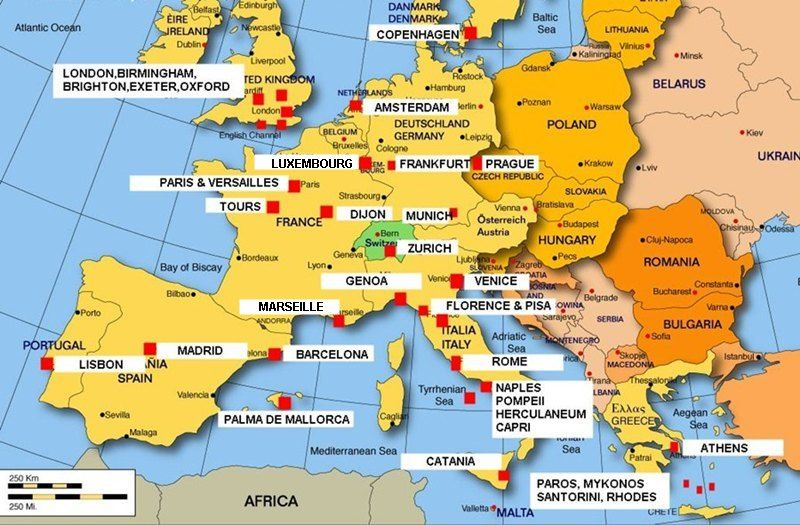 When I become CEO I want to travel the world for pleasure and – Europe Travel Map Planner
