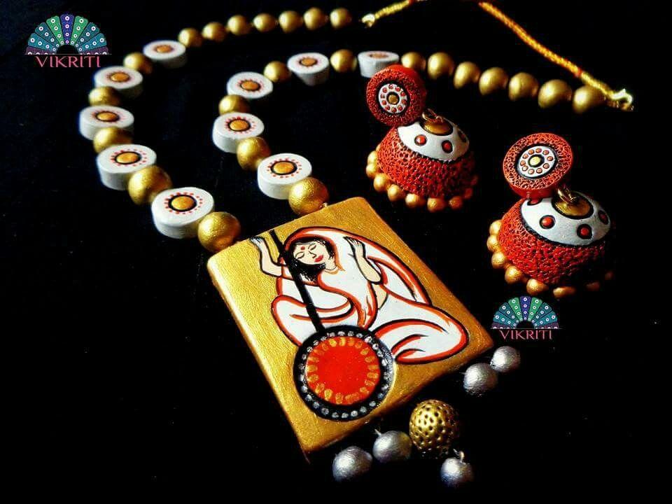Pin by Mrudula Vellapalem on Terracota Jewellery Ideas Pinterest