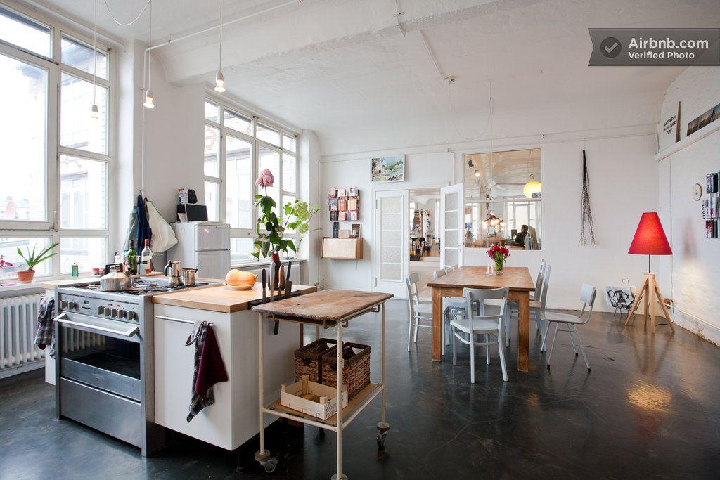 Room Artist Loft Berlin Kreuzberg A Berlino Interni Della Cucina