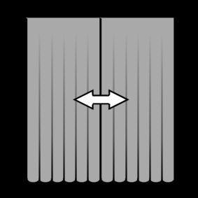 pictogram gordijnen openen