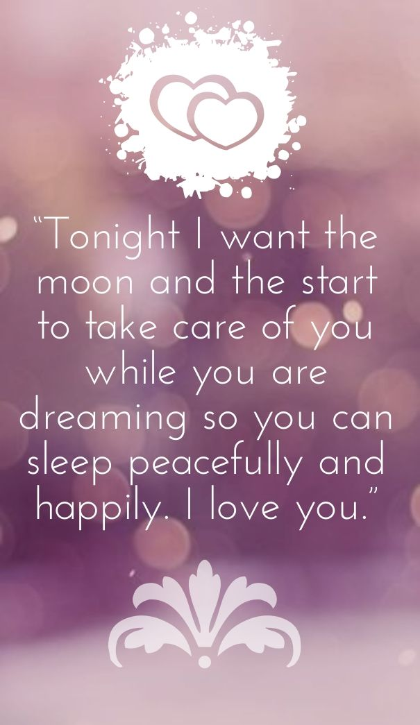 Romantic Dream Quotes To Say Goodnight Best Quotes Love Me
