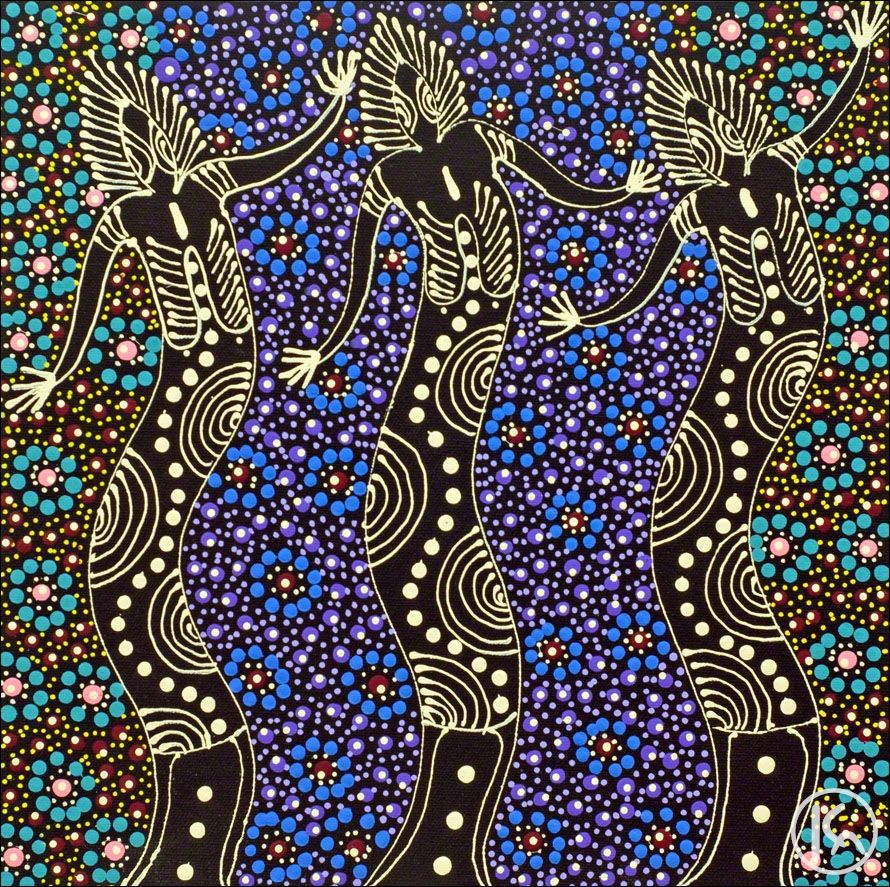 Australian Aboriginal Art Dreamtime Sisters Colleen Wallace ...