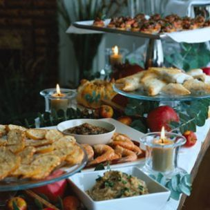 Food Serving Table Wedding Ideas Holidays Buffet Holiday