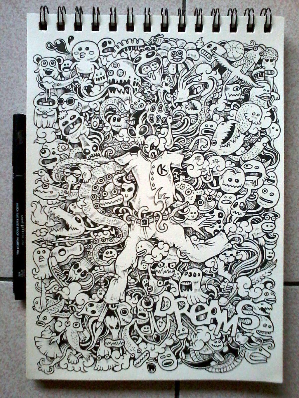 Anti stress colouring doodle and dream - Doodle Art Dreams By Kerbyrosanes Deviantart Com On Deviantart