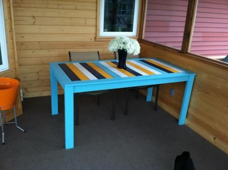 """Modified """"Simple Outdoor Dining Table"""" 