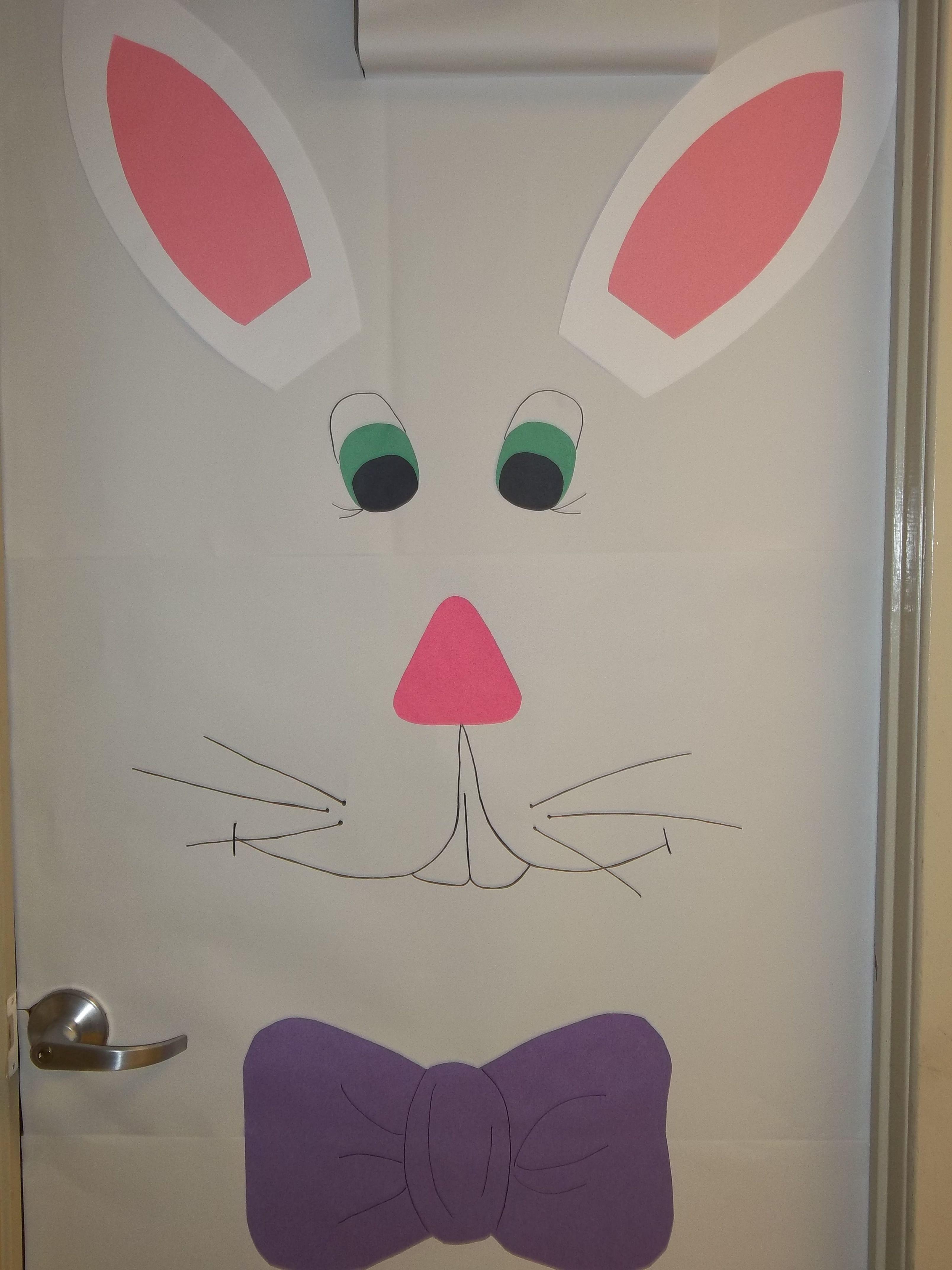 Easter time classroom door decoration