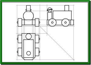 Drawing a first angle orthographic projection | CG Research