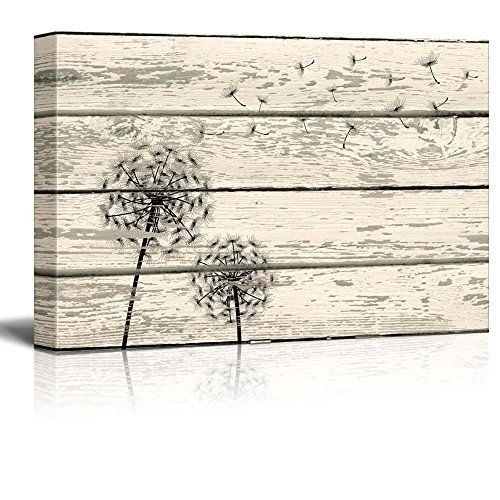 "Wall26 - Rustic Canvas Prints Wall Art - Dandelion Artwork on Vintage Wood Board Background Stretched Canvas Wrap. Ready to Hang - 12"" x 18"", http://www.amazon.com/dp/B00ZC4OGT0/ref=cm_sw_r_pi_awdm_NFIxxbHSBVQQ3"