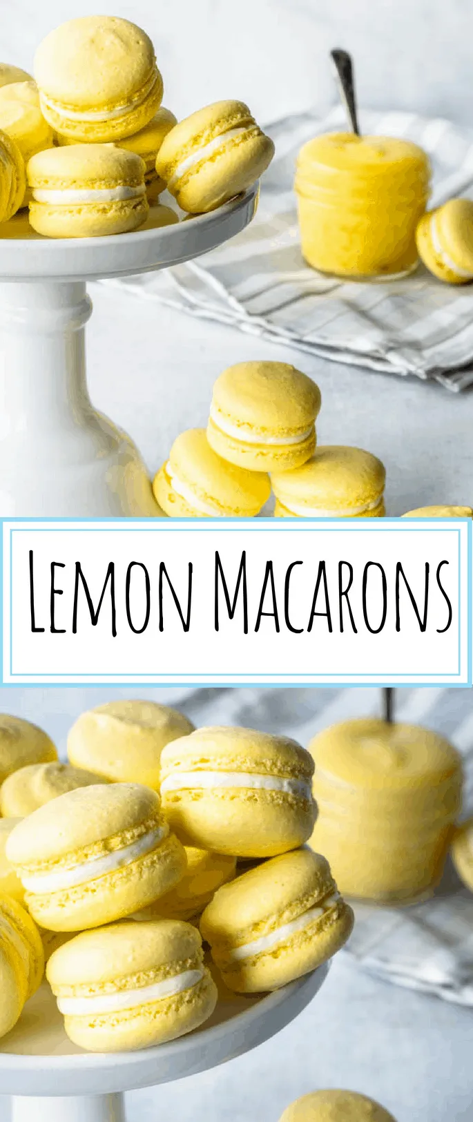 These Lemon Macarons are the perfect balance between sweet and tangy, in two perfect, delicate bite