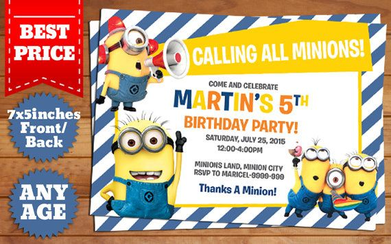 This instant downloadable is for a photoshop psd birthday this instant downloadable is for a photoshop psd birthday invitation template in minions theme filmwisefo