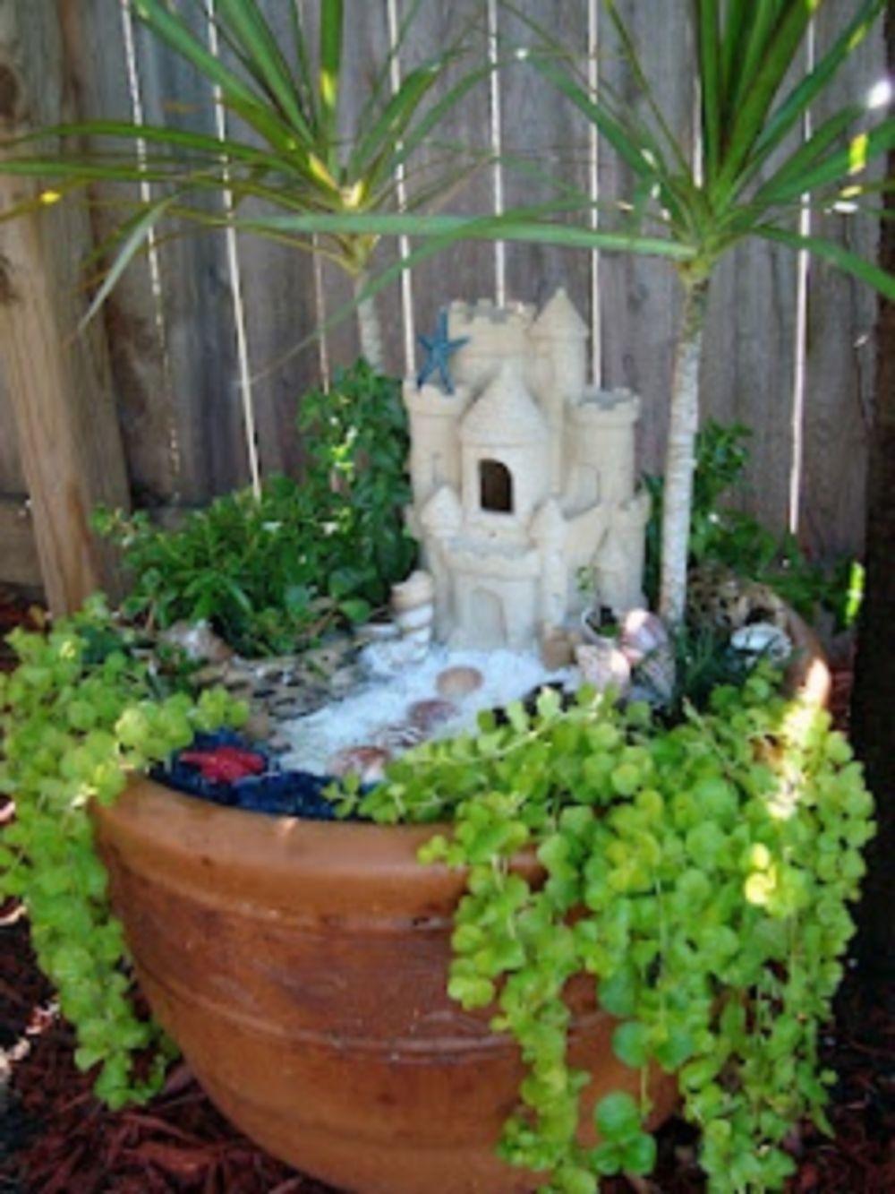 45 Best Gardening Ideas: Mermaid and Beach Themed Fairy Garden ...