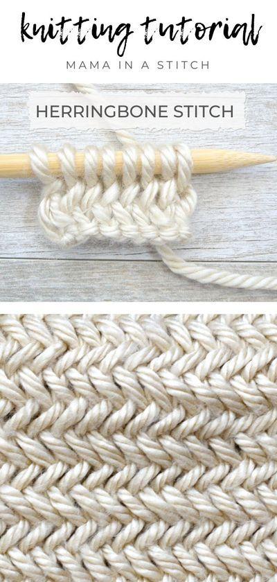 How To Knit the Horizontal Herringbone Stitch