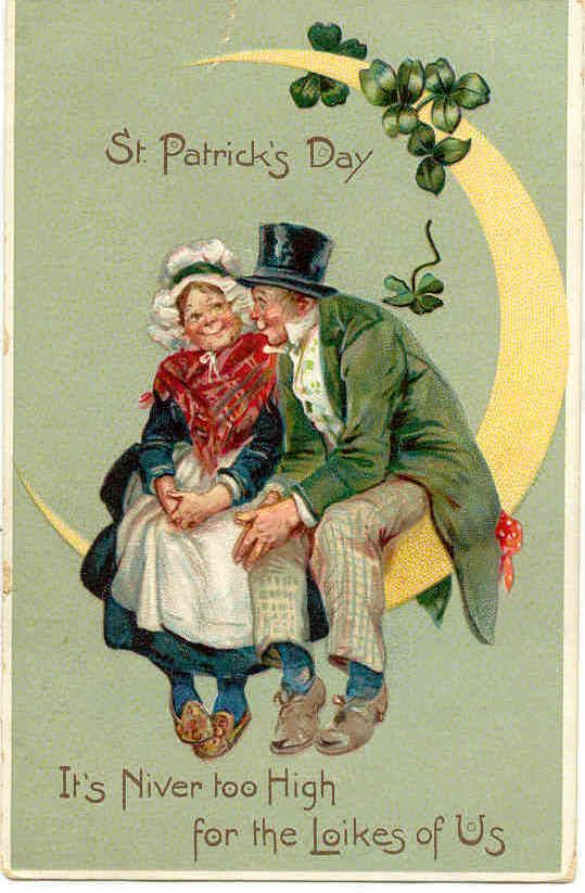 """ It's Niver Too High My Love "" Vintage 1906 Artist Frances Brundage Post Card. Karodens Vintage Post Cards."