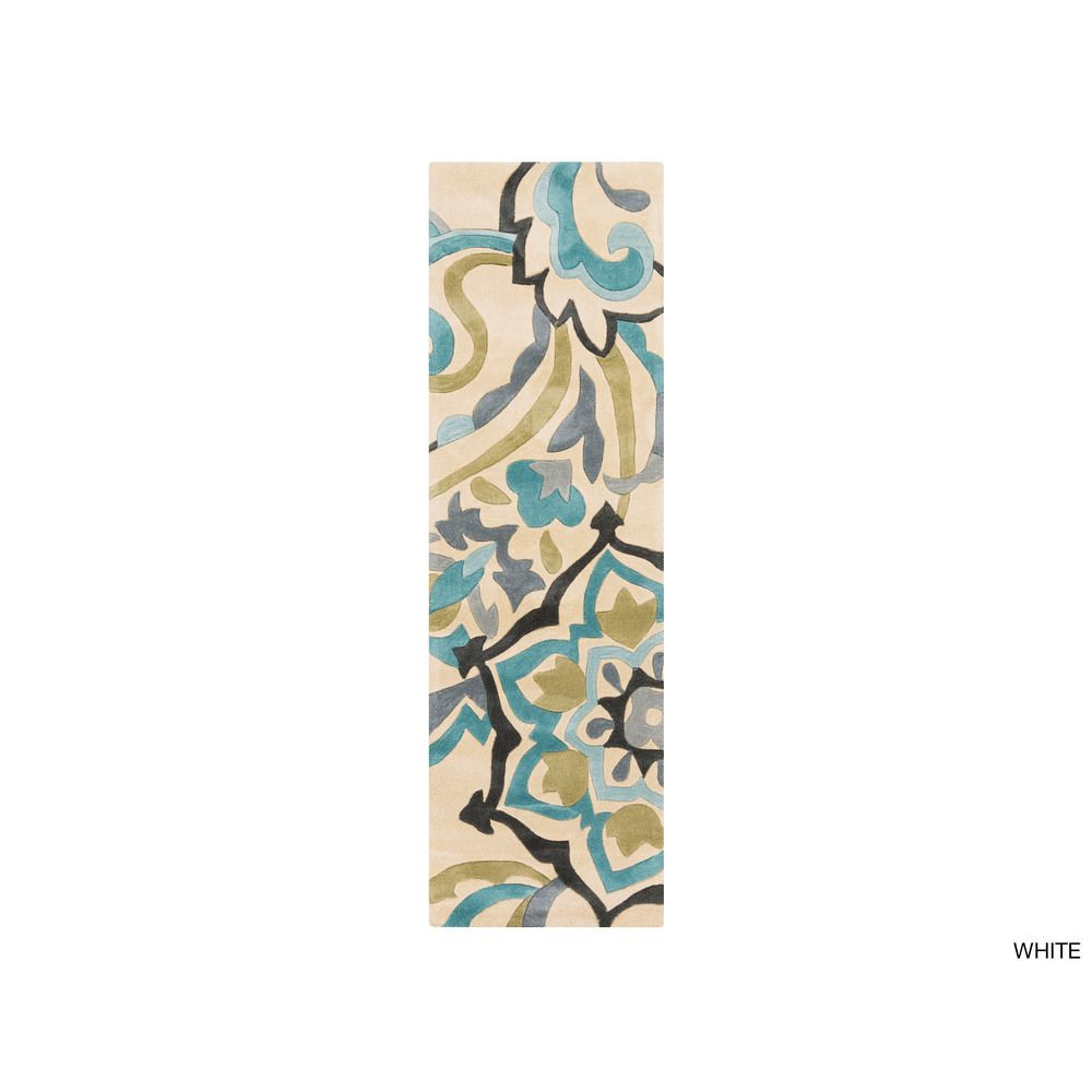 Hand-tufted Floral Contemporary Runner Rug (2'6 x 8') | Overstock™ Shopping - Great Deals on Runner Rugs