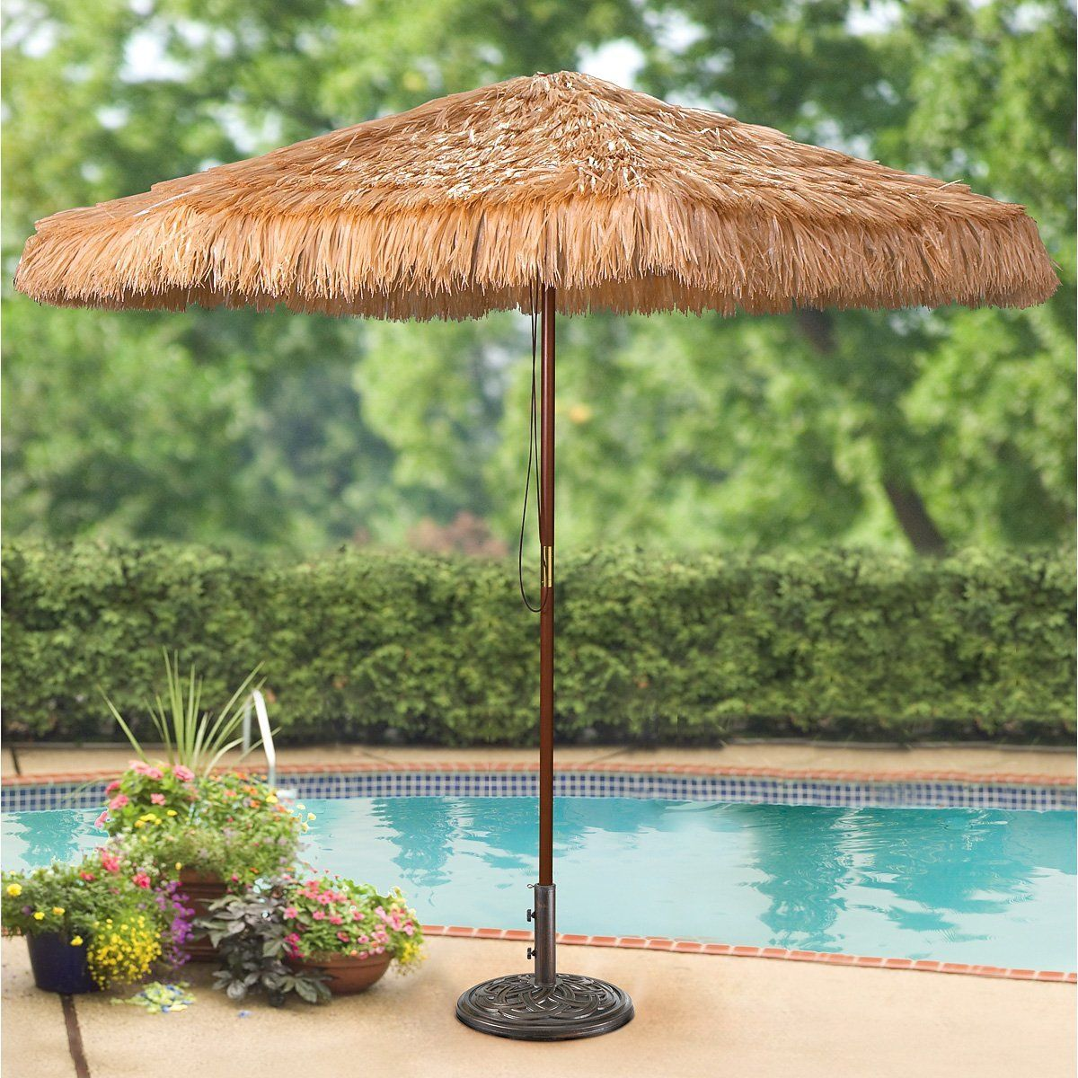 Amazon.com : CASTLECREEK 9 foot Thatched Tiki Umbrella : Patio Umbrellas :  Patio, - Amazon.com : CASTLECREEK 9 Foot Thatched Tiki Umbrella : Patio