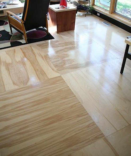 Using 4'x8 Plywood Flooring Instead Of Hardwood Flooring
