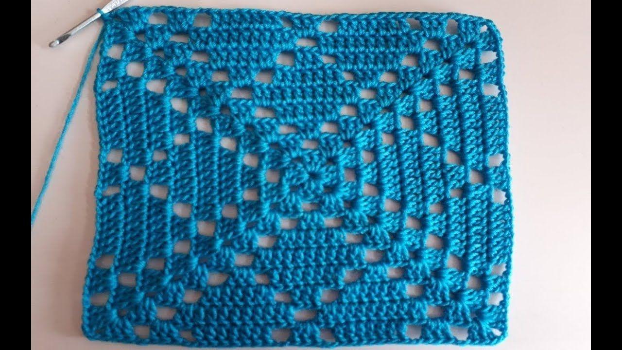 Cuadro A Crochet Paso A Paso Facil De Tejer Cuadrado A Crochet Para Mantel Youtube Cojines De Ganchillo Tejiendo Cuadrados Cuadros A Crochet