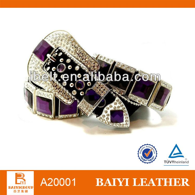 Purple Rhinestone Western Belts | ... Belt > -Rhinestone Belt > purple colore rhinestone bead belt for lady