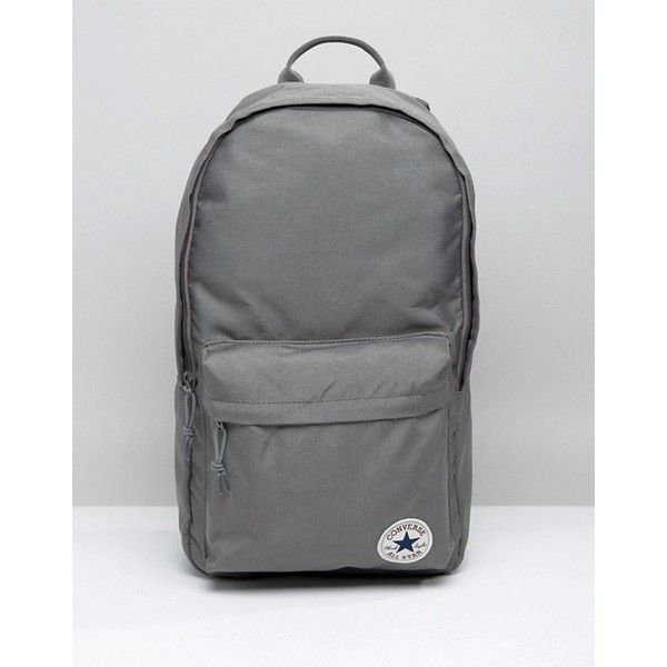 f558eb300297 Converse Classic Logo Backpack In Grey ( 31) ❤ liked on Polyvore featuring  bags