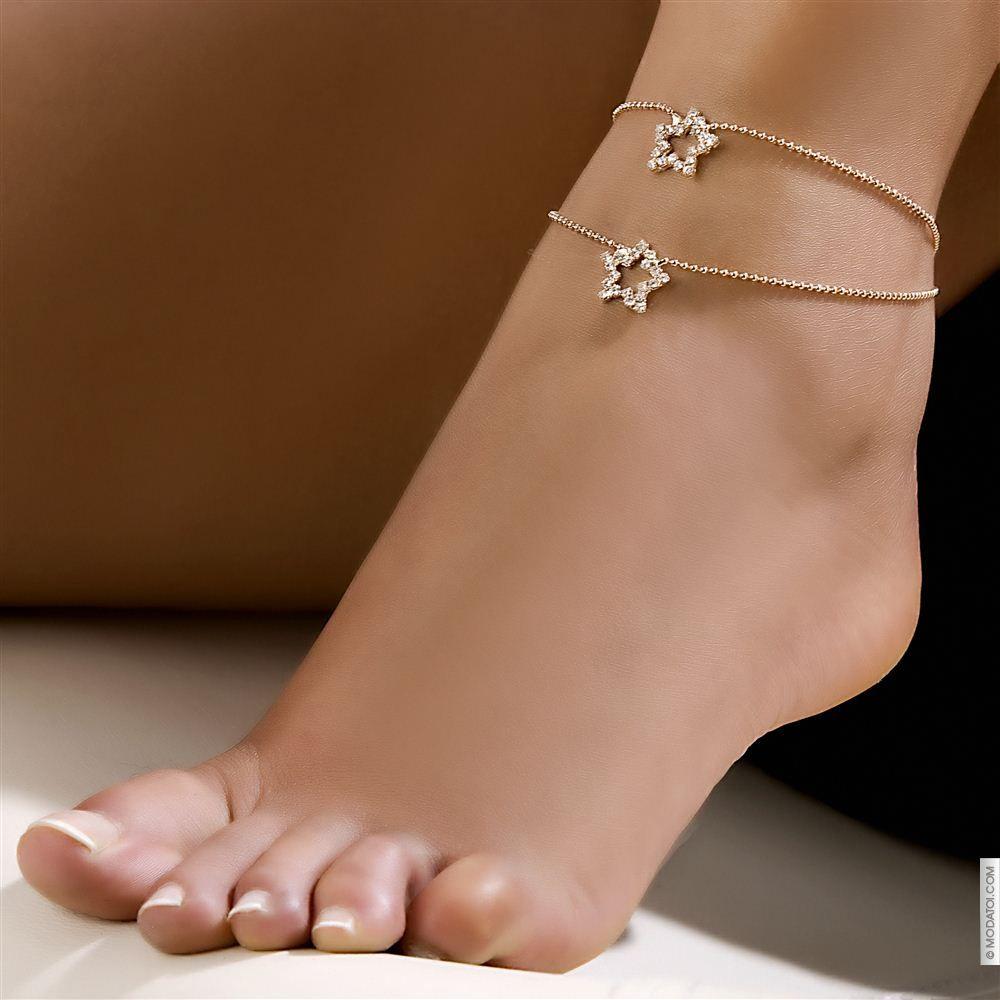 bracelet cheville femme strass