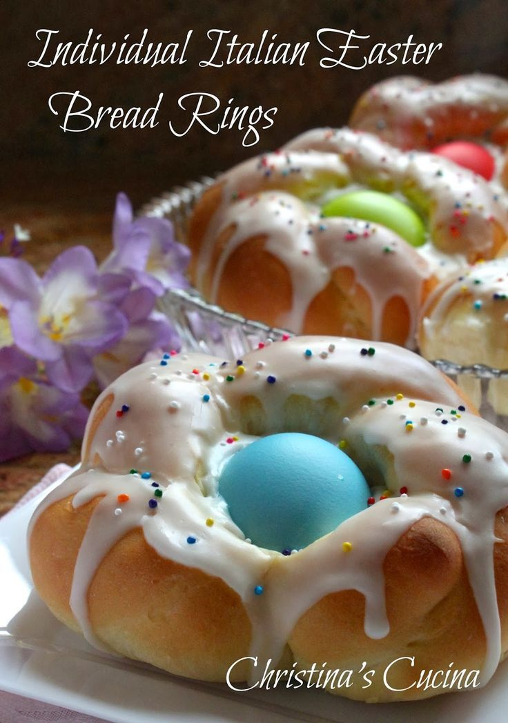 Photo of Individual Italian Easter Bread Rings…Easy Step by Step Directions