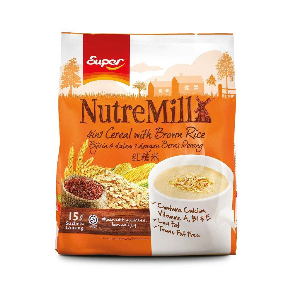 Super NutreMill/4 In 1 Brown Rice Cereal/Naturally
