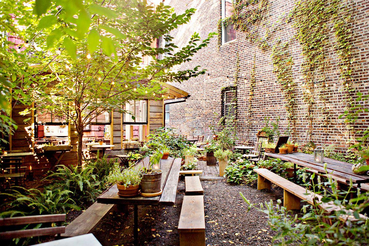 milkandrosesbkbackyard Restaurant new york, Nyc