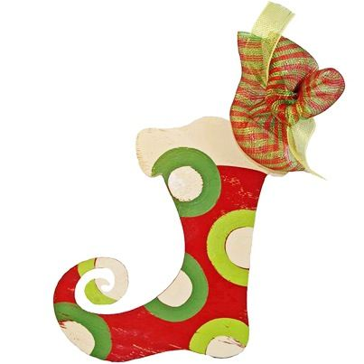 What is hanging on your front door?  Delight visitors with this MS made wooden stocking.  Click http://ow.ly/fGmmP
