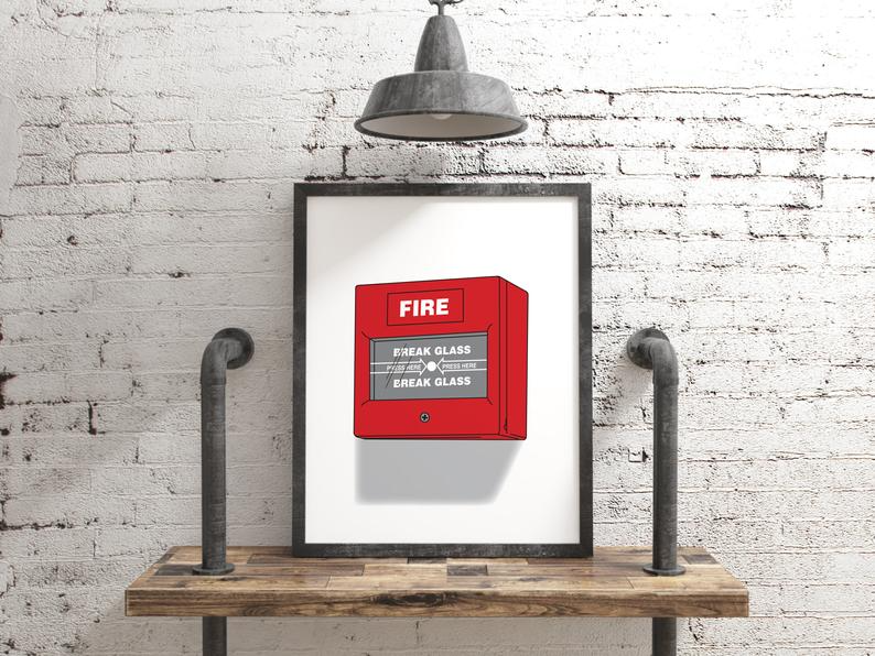 Fire Alarm Control Unit Pdf Svg Eps Png Etsy Control Unit Etsy Glass