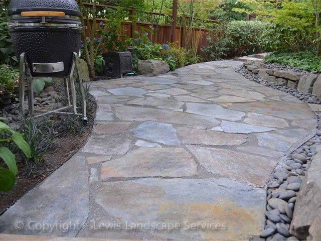 The Best Stone Patio Ideas Stone patios, Patios and Flagstone patio - hohlsteine fur gartenmauer