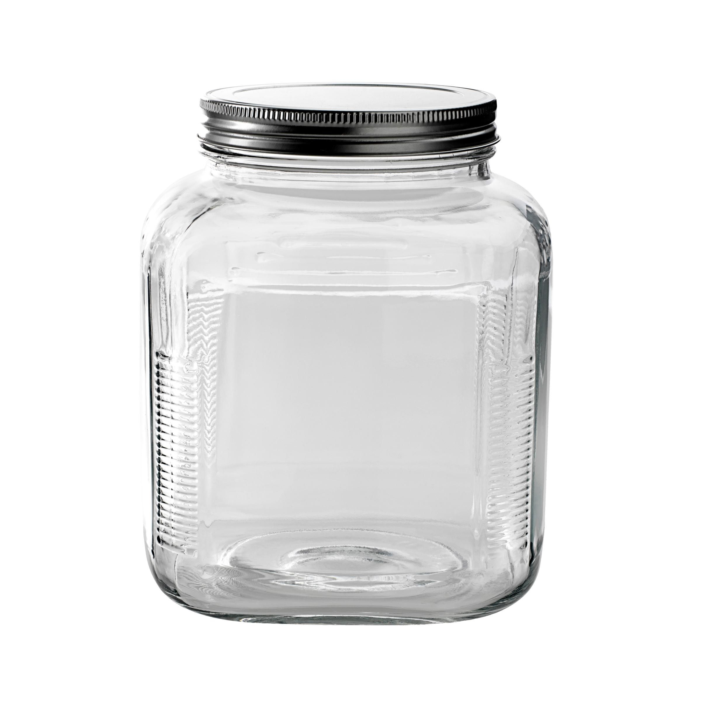 Anchor Hocking Glass Pantry Storage Cracker Jar Air Tight Prepossessing Glass Kitchen Containers Decorating Design