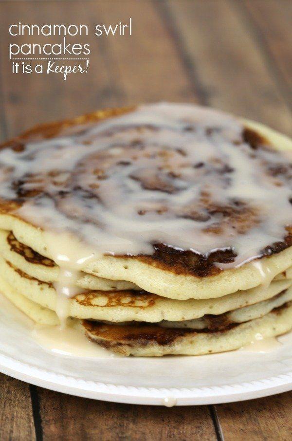 Cinnamon Swirl Pancakes Recipe - sind ein dekadenter Frühstücksgenuss   - Something Sweet... -