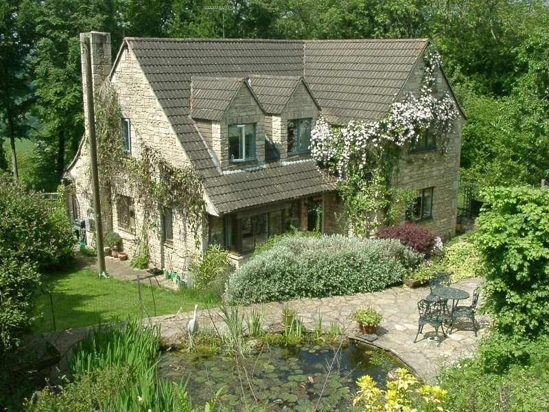 Cotswold Stone House In Spectacular Position Near Bath Exceptional Views In A Designated Area Of O English Cottage Style Cottage Style Homes Cotswolds Cottage