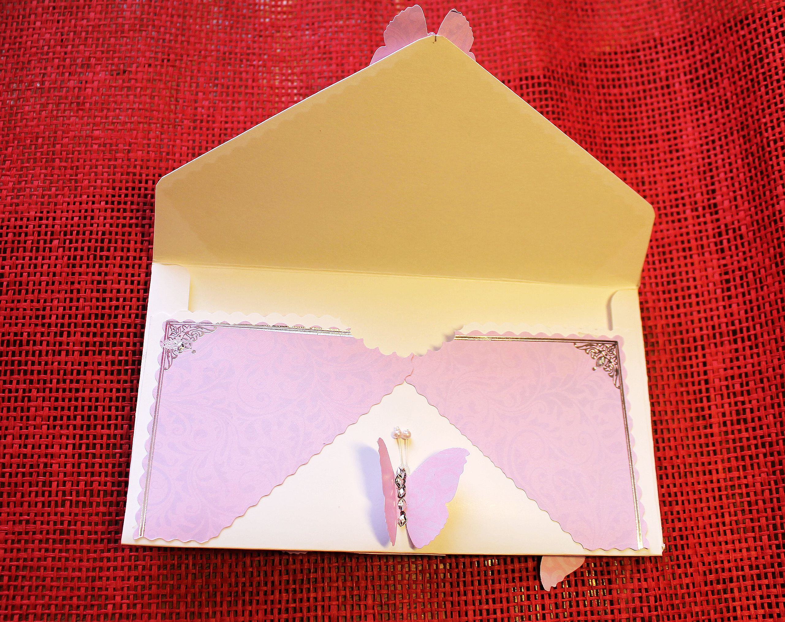 Задача открытка и конверт, гвозди картинки