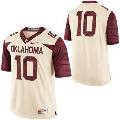 7b739e4cfaaf Oklahoma Sooners Nike  10 Limited Football Jersey - Cream