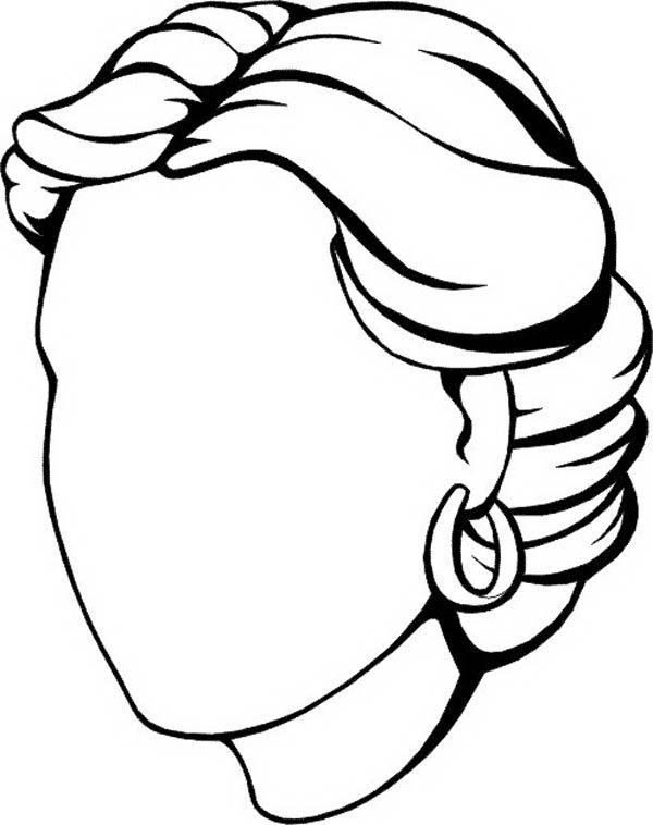 Woman Empty Face Coloring Page Coloring Pages Face Template My