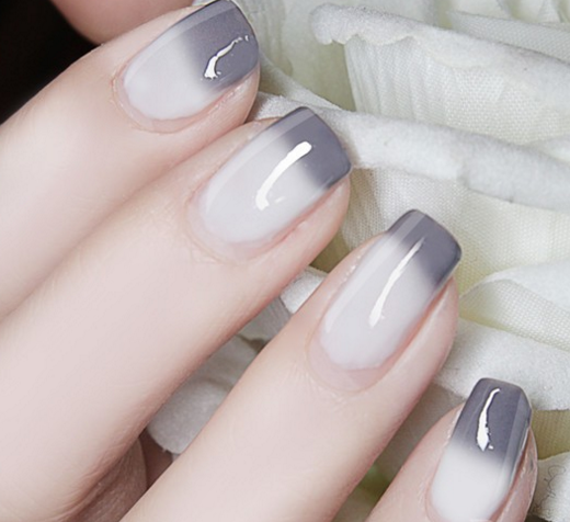 Color Changing Thermal Nail Polish - Gray to White # 23804 | Color ...