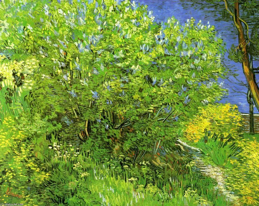 """""""Flieder"""", öl auf leinwand von Vincent Van Gogh (1853-1890, Netherlands)"""