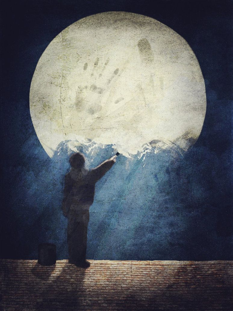 EdenClare...ArtfulFairyTales...PoeticARTISTry - atavus: Zungzwang Painting Luna Full Luna ...