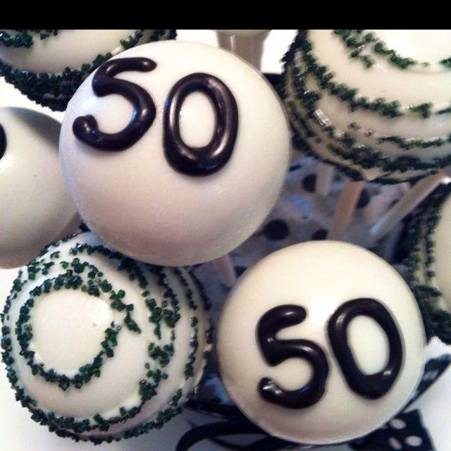 Strange Happy 50Th Birthday Cake Pops Im Going To Make These For My Funny Birthday Cards Online Inifodamsfinfo