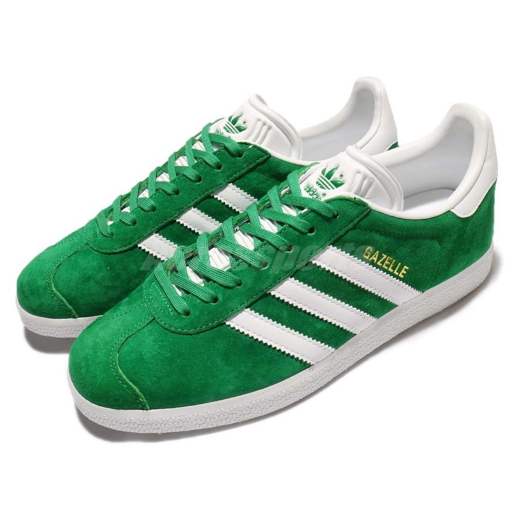 adidas Originals Gazelle Green White Nubuck Men Classic Shoe