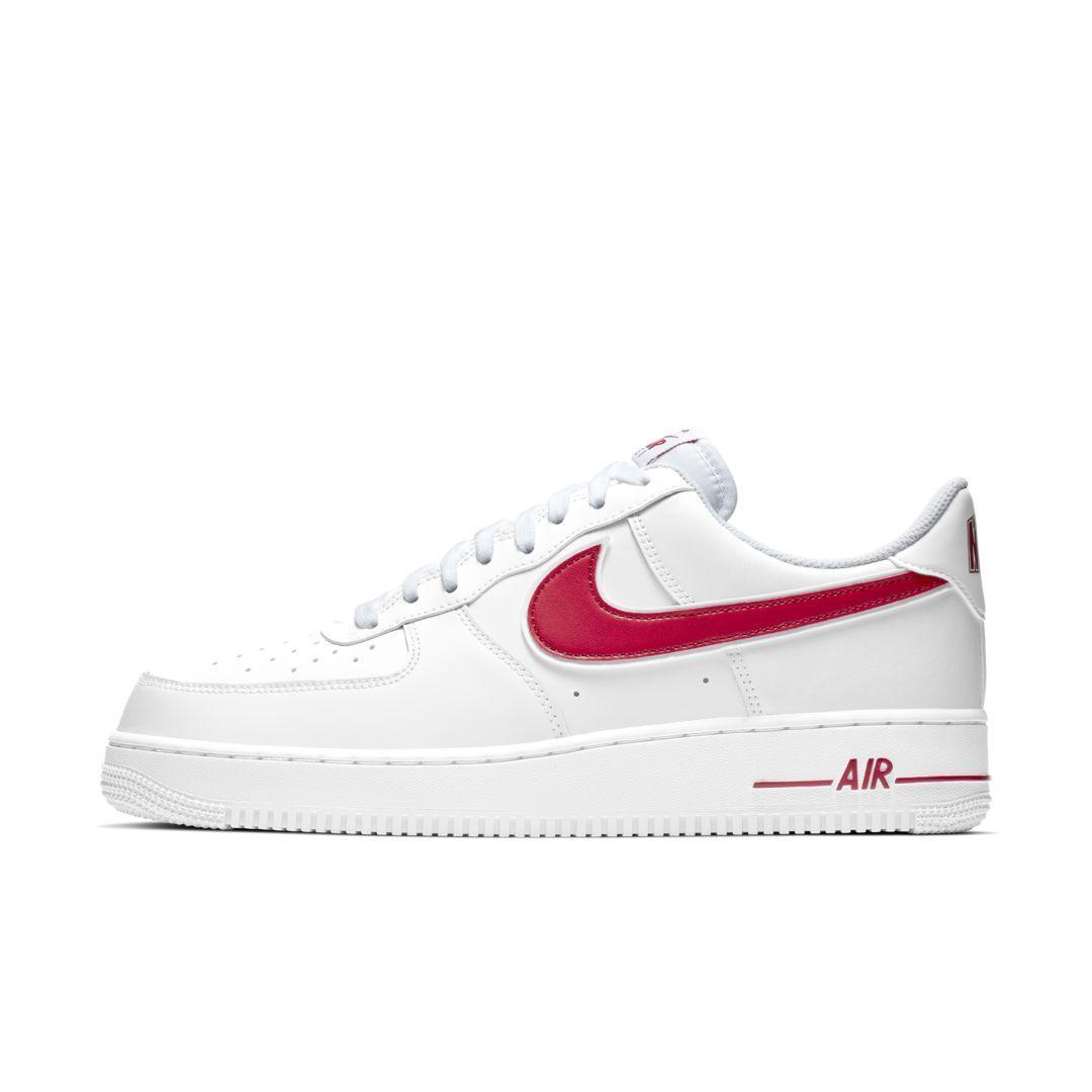 Frauen Schuhe Nike Air Force 1 (Gs) University Rot Weiß