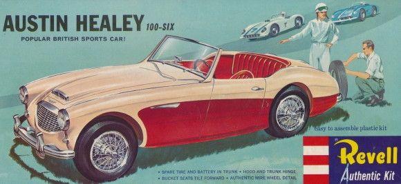 1956 Austin Healey 100 Six 1 25 Fs Car Model Box Art