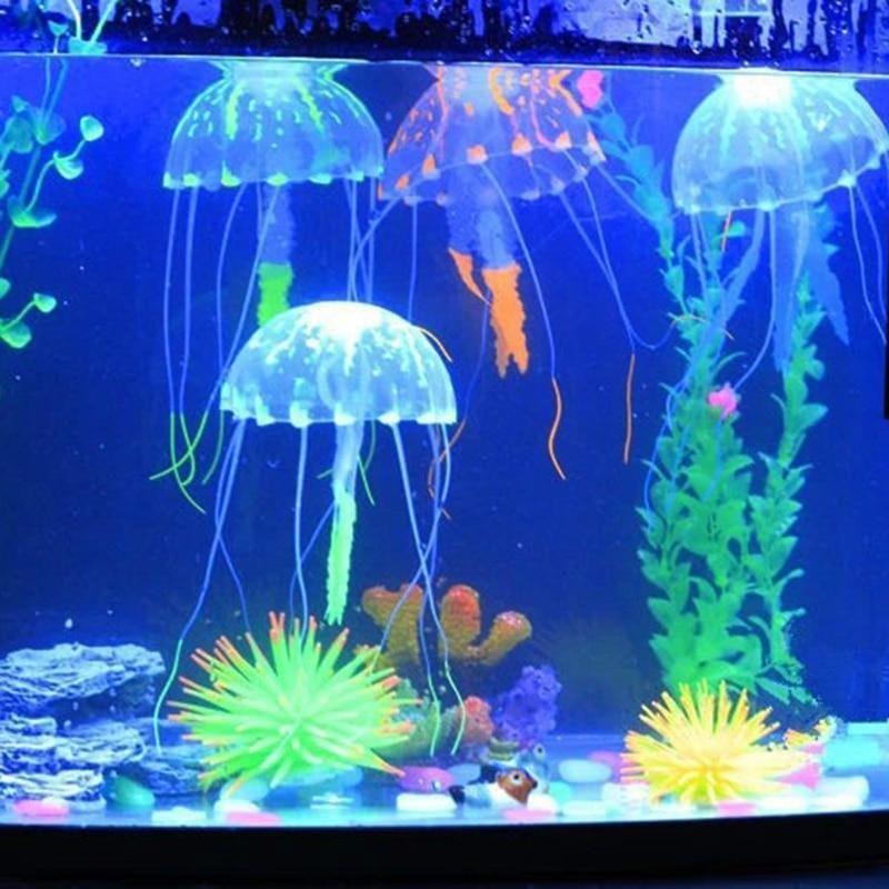 Artificial Glowing Jellyfish Decoration to enhance your aquarium. Non-toxic. #fishtank #aquarium #artificialdecoration #jellyfish