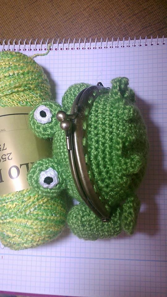 Monedero amigurumi crochet rana | Ranas, Monederos y Ganchillo