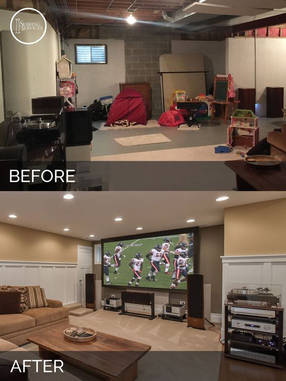A Naperville Basement Before After Pictures Basement Makeover