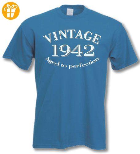 1942 Vintage Year - 73 Geburtstagsgeschenk / Gegenwart T-Shirt Royal Blau S (*Partner-Link)