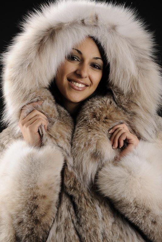 Hooded Lynx Fur Jacket | Furs | Pinterest | Lynx, Fur jacket and Fur