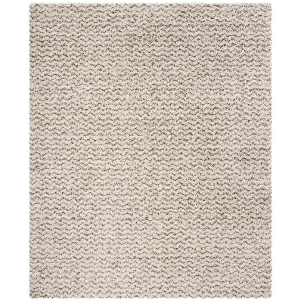 Safavieh Hudson Shag Ivory Gray 8 Ft X 10 Ft Area Rug Sgh330a 8 Area Rugs Colorful Rugs Rugs