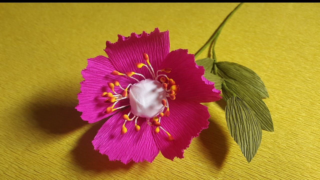How To Make Beautiful Paper Flowers Flower Making Of Crepe Paper